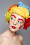 Retrato com linhas e botões Fotos de Stock Royalty Free