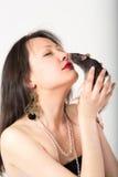 Retrato com rato Imagem de Stock Royalty Free