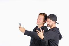 Retrato com smartphone Foto de Stock Royalty Free