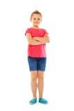 Retrato completo da altura da menina caucasiano bonita foto de stock royalty free