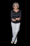 Retrato completo da altura da mulher madura Imagens de Stock Royalty Free