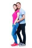 Retrato completo de pares atrativos felizes Foto de Stock