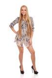 Retrato completo do comprimento da jovem mulher Imagens de Stock