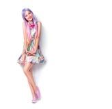Retrato completo do comprimento da jovem mulher bonita Imagens de Stock