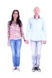 Retrato completo do comprimento de pares felizes no amor imagem de stock