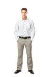 Retrato completo do comprimento do homem novo Fotos de Stock