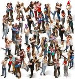Retrato completo do corpo de abraçar povos imagens de stock