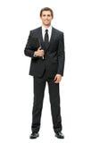 Retrato completo do homem de negócio com dobrador Imagem de Stock