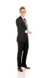 Retrato completo novo, considerável do homem de negócio Imagens de Stock
