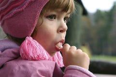 Retrato con el lollipop imagenes de archivo