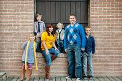 Retrato con estilo de la familia Fotografía de archivo