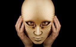 Retrato con la máscara Foto de archivo libre de regalías