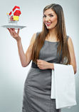 Retrato conceptual da mulher de negócio Fotografia de Stock Royalty Free