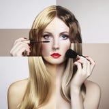 Retrato conceptual de la manera de una mujer hermosa Imagenes de archivo