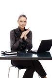 Retrato confidente de la empresaria Imagen de archivo libre de regalías