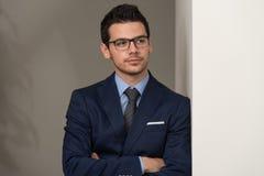 Retrato confidente del hombre de negocios Fotos de archivo