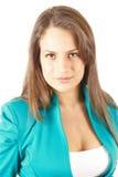 Retrato confiável da mulher nova Fotografia de Stock