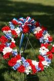 Retrato conmemorativo patriótico de la guirnalda Foto de archivo libre de regalías