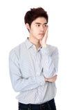 Retrato coreano asiático del este del estudio del hombre joven Foto de archivo