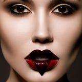 Retrato criativo da moça bonita com a Fotografia de Stock