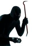 Retrato criminal del ladrón del ladrón enmascarado Fotos de archivo libres de regalías