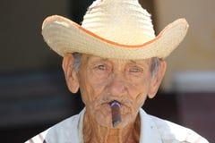 Retrato cubano velho do homem Imagem de Stock
