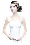Retrato da arte de um womanl novo na pintura Imagem de Stock Royalty Free