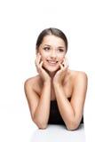Retrato da beleza da fêmea triguenha caucasiano nova Imagens de Stock Royalty Free