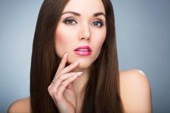 Retrato da beleza da mulher Foto de Stock Royalty Free