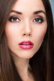 Retrato da beleza da mulher Fotos de Stock Royalty Free