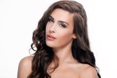 Retrato da beleza da mulher Imagem de Stock Royalty Free
