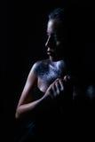 Retrato da beleza da mulher bonita Menina cósmica Fotos de Stock Royalty Free