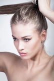 Retrato da beleza da mulher nova Imagem de Stock Royalty Free