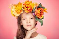 Retrato da beleza da rapariga Foto de Stock