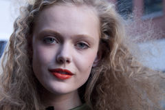 Retrato da beleza de Frida Gustavsson do modelo de forma em New York Fotos de Stock