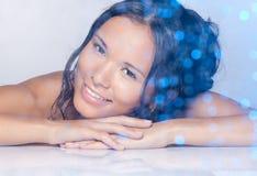 Retrato da beleza do bem estar Imagem de Stock Royalty Free