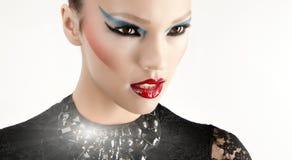 Retrato da beleza do Fim-acima Imagem de Stock Royalty Free