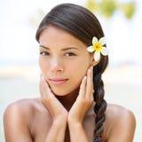 Retrato da beleza do spa resort da mulher Fotos de Stock