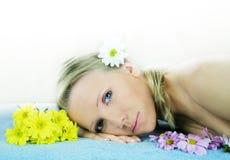 Retrato da beleza do Wellness Imagens de Stock Royalty Free