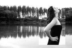 Retrato da beleza da forma da menina bonita Composição profissional fotografia de stock