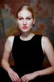 Retrato da beleza fria fotografia de stock royalty free