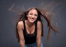 Retrato da beleza hairstyle Foto de Stock