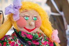Retrato da boneca de Maslenitsa no vestido tradicional Imagem de Stock Royalty Free