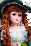 Retrato da boneca do Redhead Imagem de Stock
