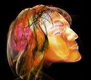 Retrato da cabeça do homem ilustração stock
