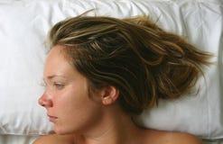 Retrato da cama Fotografia de Stock