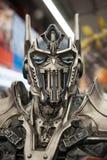 Retrato da cara do transformador da prima de Optimus fotografia de stock