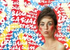 Retrato da cara da mulher da beleza com pele perfeita imagens de stock royalty free