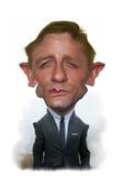 Retrato da caricatura de Daniel Craig Fotos de Stock