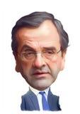 Retrato da caricatura dos Samaras de Antonis Fotos de Stock Royalty Free